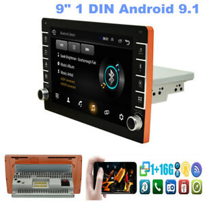 """9"""" 1 DIN Android 9.1 Quad Core Car Stereo MP5 Radio Player GPS Navigation Wifi"""