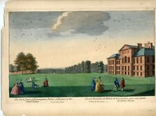 "RARE HAND-COLORED ENGRAVING - ""THE EAST FRONT OF KENSINGTON PALACE, WITH PART..."
