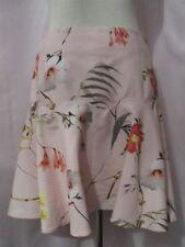 Ladies  (TED BAKER) GINENE Botanicalfloral pink skirt SZ 2 UK 10 BNWT