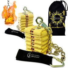 Pro CATHEDRAL Wick Fire Poi - Professional Kevlar Fire poi Set + Travel Bag
