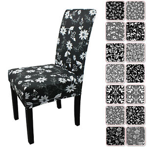 Stretch Dining Chair Covers Slipcovers Wedding Home Decor Seat Covers Soft UK