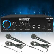 Dj Pa Audio Hifi Bluetooth Amplificateur Mini- Compact Karaoké Aux Microphone