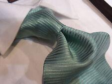 Fabio Italian Silk Tie Necktie Solid Aqua Blue Horizontal Stripe