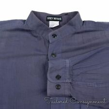 ISSEY MIYAKE Blue Violet 100% Cotton Mens Casual Dress Shirt - LARGE