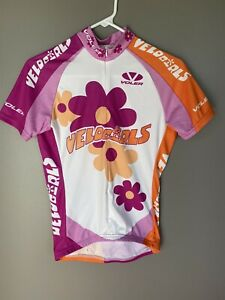 Cycling Jersey Voler Womens Size Small cycle VeloGirls retro Pink White