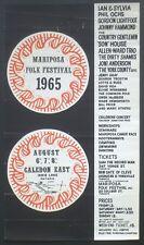 Mariposa Folk Festival 1965 Poster w/Joni Mitchell Phil Ochs