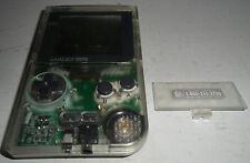 Nintendo Game Boy Pocket Clear Handheld System GBP Gameboy Console See Through