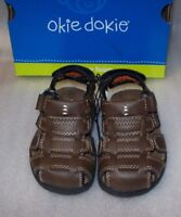 BOYS TODDLER OKIE DOKIE  DARCY BROWN SANDALS MULTIPLE SIZES NEW IN BOX
