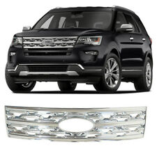 For 2018 2019 Ford Explorer Front Grille Cover Grill Trim Snap on Overlay Chrome
