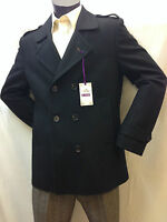 Men's Double Breasted Winter Coat Jacket  Smart Casual Formal Wool mix