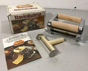 MARCATO Raviolissima Ravioli Pasta Maker Attachment for Atlas 150 w/Box