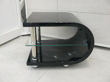 Edge Modern Designer Curve Black Gloss Side/End Table
