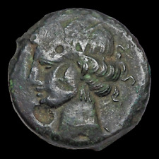Carthage, Second Punic War. Circa 220-215 Bc. Æ Shekel. Carthage mint.
