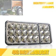 "DOT 4x6"" LED Headlights Sealed Beam Light Bulbs Replace H4656/4651 Headlamp 2Pcs"