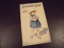 Sunlight Soap advert/flyer, original, vintage, Lever Brothers, c 1913