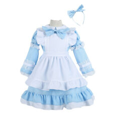 Alice in Wonderland Inspired Maid Cosplay Party Costume Dress For Women Kid Girl