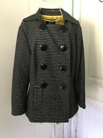 Luii By Anthropologie Striped Blue Off White Jacket Blazer Long Sleeves S