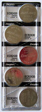 5PC Energizer 2430 CR2430 Watch & Electronics Battery 3.0 V Lithium Coin Cell