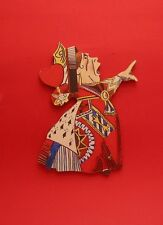 The Queen of Hearts Key Rack Alice in Wonderland Tenniel Literary Art Gift NEW
