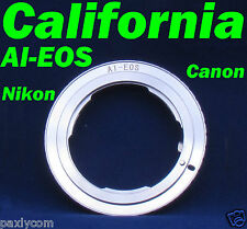 Nikon AI Lens to Canon EF EOS Adapter Rebel XT, XTi, Xs, Xsi, T1i, T2i DC101 550