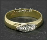Diamant Ring, 0,20ct Brillanten Top Wesselton G & Si1, 585 Gold Antik Bandring