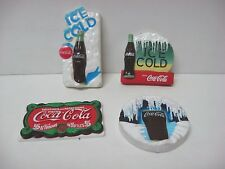 Vintage Lot 4 Coca Cola magnets 1996 97 98