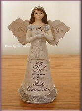 HOLY COMMUNION ANGEL FIGURINE WITH ROSARY & BIBLE BY PAVILION ELEMENTS FREE SHIP