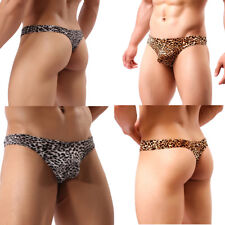 Sexy Mens Underwear Boxer Brief G-string Thongs Pouch Shorts Leopard Underpants