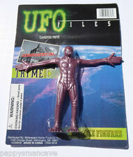 UFO FILES BENDABLE FIGURE BROWN ALIEN ~FREE SHIPPING #