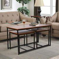 Set of 3 Side End Table Tea Coffee Table Living Room Home Furniture Industrial