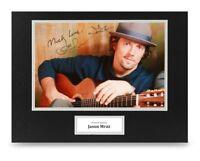 Jason Mraz Signed 16x12 Photo Display Pop Music Autograph Memorabilia + COA
