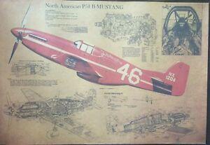 North American P51 B Mustang Poster