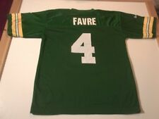 GREEN BAY PACKERS BRETT FAVRE #4 REEBOK BRAND 2-SIDED FOOTBALL JERSEY-LG RARE