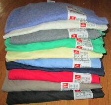 Men's V Neck T-Shirt 3XL Hanes 6 Pc 6 Color100% cotton 50/50  Gray Yellow Green