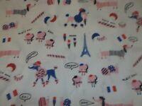 Hello Lucky French Dog Ivory Robert Kaufman Premium Quilting Cotton Fabric YARD