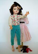 Madame Alexander CISSY 1956-1957 Brunette w Original CANDY STRIPE & FAO Pant Set