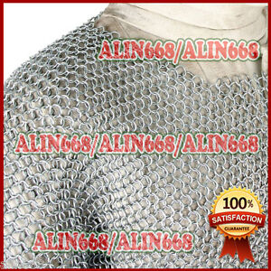Medieval Aluminium Chainmail Shirt Butted Chain Mail Armour Role Play Costume