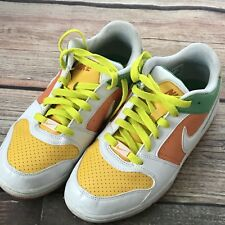 Women's Nike Air Prestige II White Yellow Orange Green Sneakers Shoes Sz 7.5
