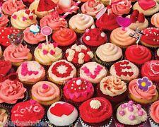 Cupcake Puzzle 1000 Piece Jigsaw Puzzles Love Red Toy Cupcake Adult Puzzles Kids
