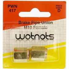 Wot-Nots Brake Pipe Unions - Female M10 x 1 Pitch (PWN417) - Pack of 2