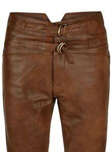 Las Mejores Ofertas En Pantalones De Cuero Marron Para Hombres Ebay