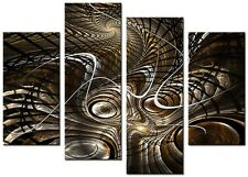 4 PANEL  SIZE 90x70cm ABSTRACT ART Large  DIGITAL Canvas Print Mink Brown