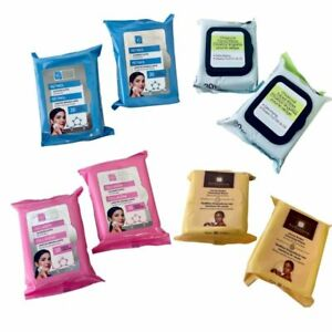 Facial Wipes Cleansing Collagen Charcoal Cocoa Retinol Makeup Remover 2 Packs
