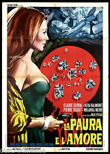 LA PAURA E L'AMORE MANIFESTO CINEMA PÉCAS EROTICO 1968 PEUR ET L'AMOUR POSTER 2F