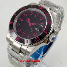 40mm black sterile dial Ceramic Bezel sapphire glass automatic mens watch B158