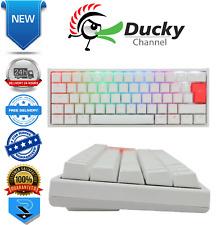 Ducky One2 White Mini RGB Backlit Speed Silver Cherry MX Switch UK QWERTY Layout