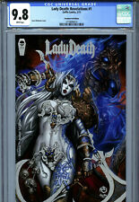 Lady Death: Revelations #1 (2017) Coffin CGC 9.8 White Premium Foil Edition