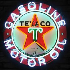 Neon sign Texaco  Star Gasoline gas wall  lamp light gift  gas and Motor oil