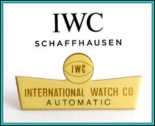 """IWC - RARE VINTAGE 1960's IWC Enameled Window Shop Display SIGN: """"Automatic"""""""