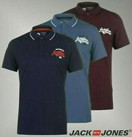 Mens Jack And Jones Lightweight Top Core Heritage Polo Shirt Sizes from S to XXL